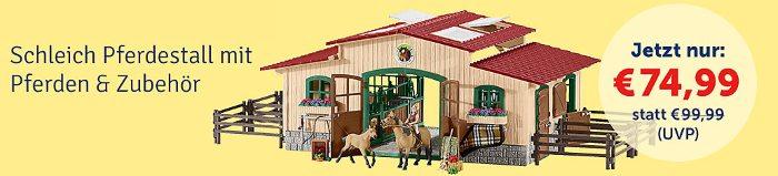 Schleich Pferdestall mit Pferden und Zubehör jetzt nur 74,99€ bei myToys