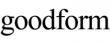 Goodform Logo