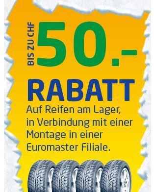 Euromaster bis zu 50% Rabatt