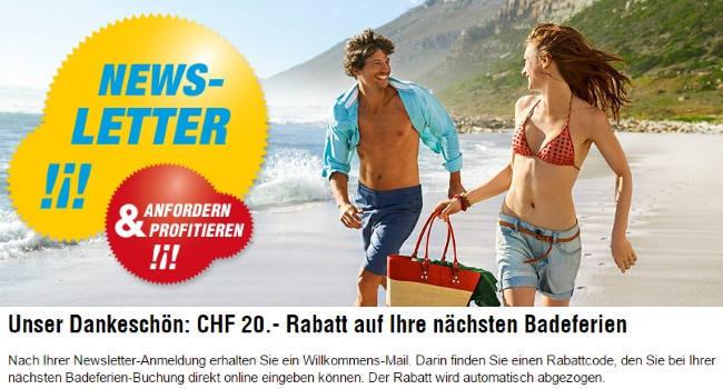 ITS Coop Travel Newsletter abonnieren und 20 CHF Gutschein erhalten
