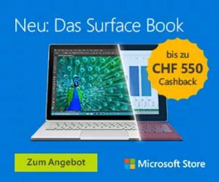 Microsoft Surface Book bis yu CHF 550.- Cashback