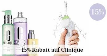 15% Rabatt auf Clinique