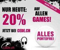 20% Rabatt auf alle Games bei CeDe