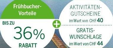 Center Parcs Frühbucher Rabatte und Gutscheine