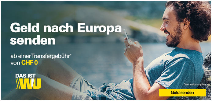 Geld nach Europa senden mit Western Union