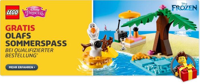 Gratis Olafs Sommerpass bei LEGO
