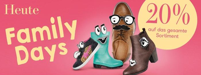 20% Rabatt bei Vögele Shoes