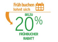 Center Parcs 20% Frühbucher Rabatt