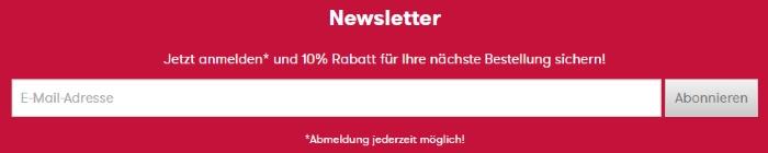 Vögele Shoes Newsletter anmelden und 10% Rabatt erhalten
