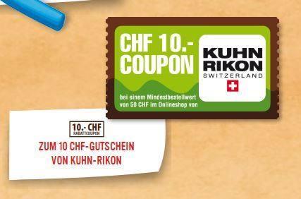 Kuhn RIkon CHF 10.- Gutschein