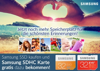 Samsung SSD kaufen uns Samsung SDHC Karte gratis dazu bekommen! Nur bei Alternate!