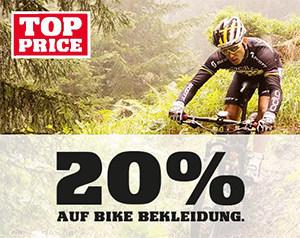 20% auf Bike Bekleidung bei Ochsner Sport