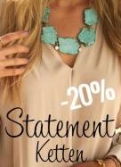 20% Rabatt auf Statement Ketten bei Schmuckpiraten