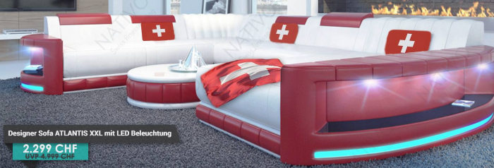 Designer Sofa Outlet Schweiz: Large Sectional Sofa Brown Leather ...