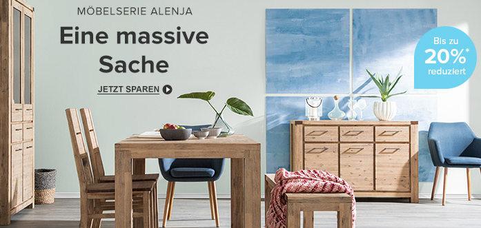 Eine massive Sache: Möbelserie Alenja bis zu 20% reduziert bei home24