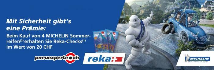 Pneuexperte Prämie: Reka Checks im Wert von CHF 20.-