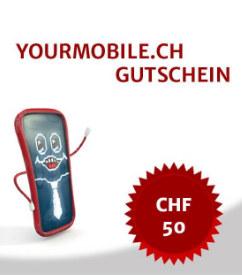 Yourmobile CHF 50.- Gutschein