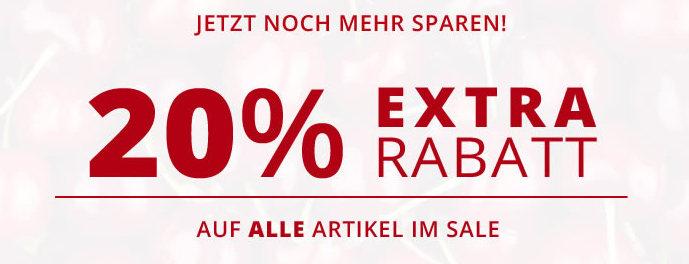 20% Extra Rabatt bei Alba Moda