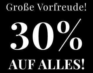 30% Rabatt auf alles bei Butlers