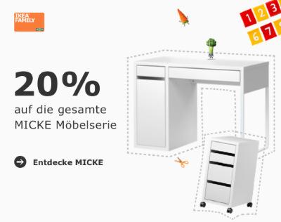 20% auf das ganze MICKE Möbel Serie