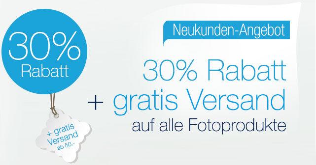 30% Rabatt+ gratis Versand bei Smartphoto