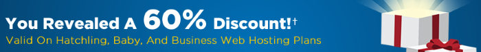 60% Discount bei Hostgator