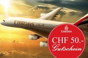 Emirates CHF 50.- Gutscheincode