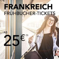 Frühbucher-Tickets bei Voyages-sncf: Frankreich ab 25€