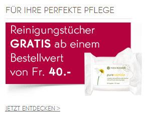 Reinigungstücher gratis bei Yves Rocher