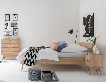 schlafzimmer im skandinavischen stil. Black Bedroom Furniture Sets. Home Design Ideas