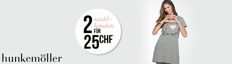2 Nachthemden für CHF 25.- bei Hunkemöller