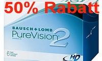 50% rabatt auf PureVision 2 von Bausch + Lomb bei McLinsen