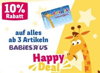 BabiesRUs Happy Deal - 10% auf alles ab 3 Artikeln!