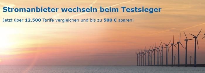 Jetzt über 12500 Tarife vergleichen und bis zu 500 € sparen!