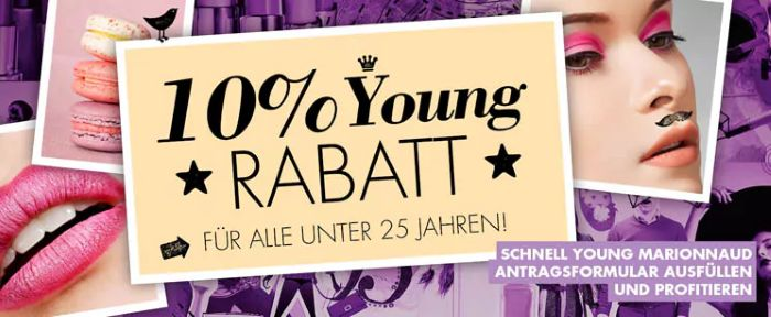 Marionnaud: 10% Young-Rabatt für alle unter 25 Jahren!