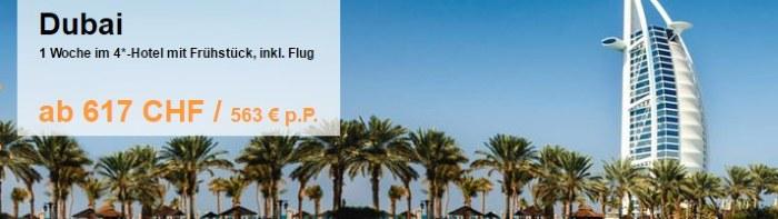 Dubai ab CHF 617.- mit FTI