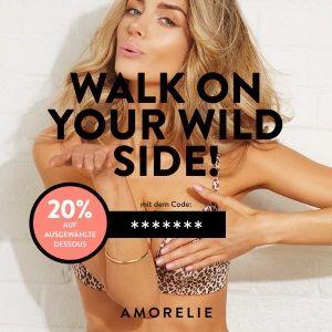 Walk on Your Wild Side- 20% Rabatt bei Amorelie