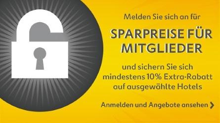 Expedia.ch - Sparpreise für Mitglieder: 10% Extra-Rabatt