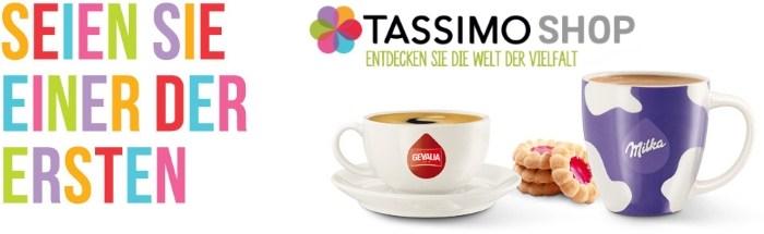 Tassimo Shop: Seien Sie einer der ersten!