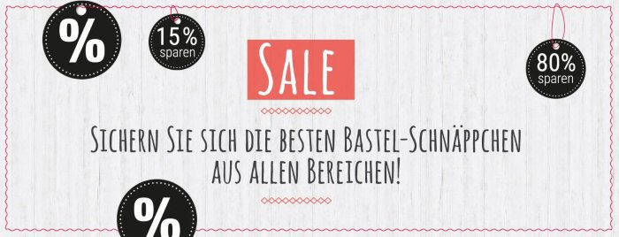 VBS Sale - Sichern Sie sich die besten Bastel-Schnäppchen aus allen Bereichen