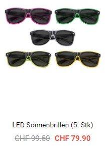SALE bei Partypanda.ch - LED-Sonnenbrillen reduziert