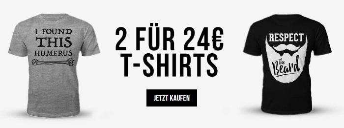 2 für 24€ T-Shirts