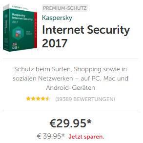 Kaspersky Internet Security Rabatt