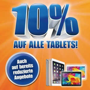 10% auf alle Tablets bei Melectronics