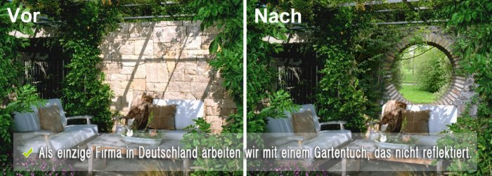 Gartentuch, das nicht reflektiert - nur bei GartenPoster.de