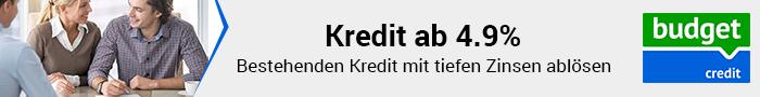 Kredit ab 4.9% mit budgetcredit.ch
