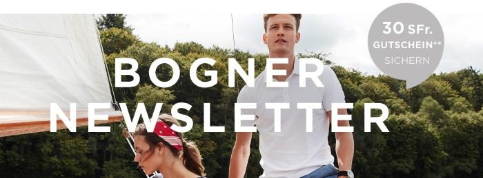 Bogner Newsletter abonnieren und CHF 30.- Bogner Gutschein erhalten