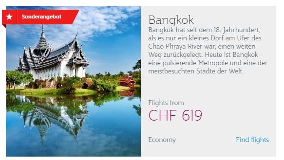 Qatar Airways Aktion - Bangkok ab CHF 619.-