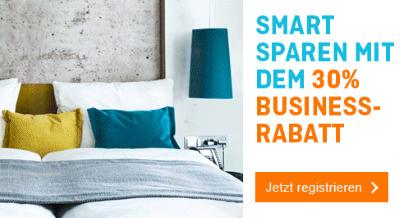 Smart Sparen mit dem 30% Business Rabatt