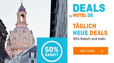 Täglich neue Deals - 50% Rabatt und mehr bei Hotel Info